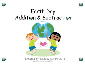 Earth Day Addition & Subtraction