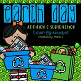Earth Day Addition & Subtraction Color-By-Number
