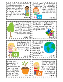 Earth Day: Addition and Subtraction Game