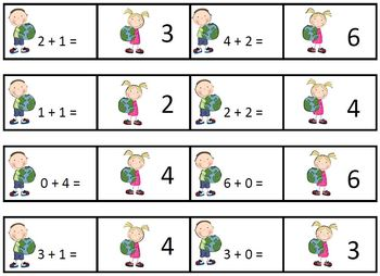 Earth Day Addition and Subtraction Matching Cards and Problem Solving Cards