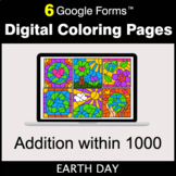 Earth Day: Addition within 1000 - Google Forms | Digital C