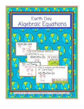 Earth Day-Algebraic Equations