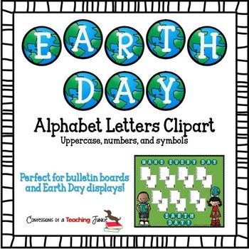 Earth Day Alphabet Clipart