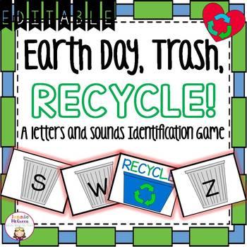 Earth Day Alphabet Phonics Game EDITABLE