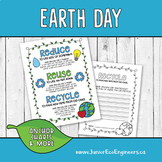 Recycling Anchor Charts | Recycle Earth Day Worksheets | E