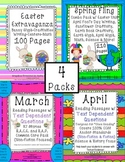 Earth Day, April Fool's, Easter, Text Evidence Passages, Math, Crafts & Centers