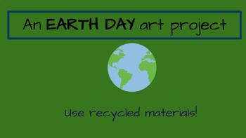 Earth Day Art Project - Recycled Flowers, Bulletin Board