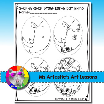 Earth Day Art Project, Rhino