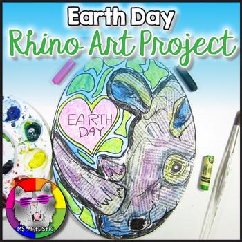 Earth Day Art Lesson, Rhino Art Project