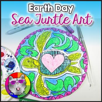 Earth Day Art Lesson, Sea Turtle Art Project