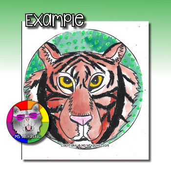 Earth Day Art Lesson, Tiger Art Project