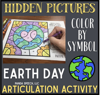 Earth Day Articulation Color by Symbol Hidden Images: A Speech Therapy Activity