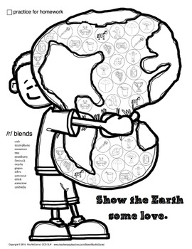 Articulation Dot Art FREEBIE for Earth Day {/r/ and /r/ blends}