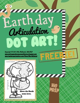 Earth Day Dot Art FREEBIE {/r/ and /r/ blends}