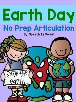 Earth Day Articulation: NO PREP!