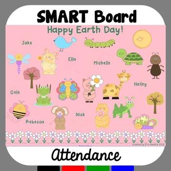Earth Day SMART Board Attendance FREEBIE