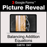 Earth Day: Balancing Addition Equations - Google Forms Mat