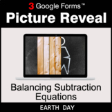 Earth Day: Balancing Subtraction Equations - Google Forms