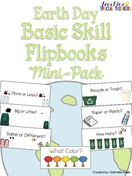 Earth Day Basic Skill Flipbooks