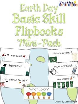 Earth Day Basic Skill Flipbooks