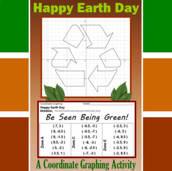 Earth Day - Be Seen Being Green - A Coordinate Graphing Activity