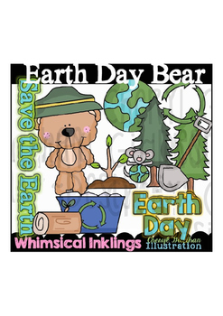 Earth Day Bear Clipart Collection