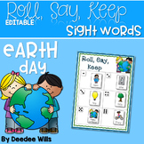 Earth Day ABC and Sight Words Roll, Say, Keep ~ Editable