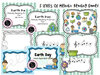 Earth Day--Big BUNDLE of 13 Music Games & Activities for Meter, Rhythm & Melody