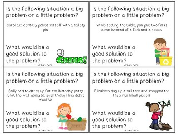 Earth Day Big Problems, Little Problems: A Social Skills Activity
