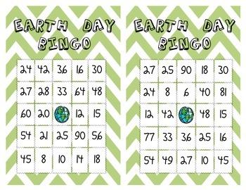 Earth Day Bingo
