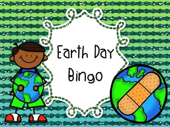 Earth Day Bingo 3rd 4th 5th 6th 7th 8th grade