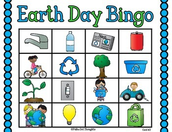 Earth Day Bingo Center {Freebie}