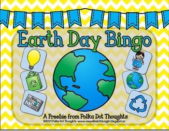 Earth Day Bingo Center {Freebie}