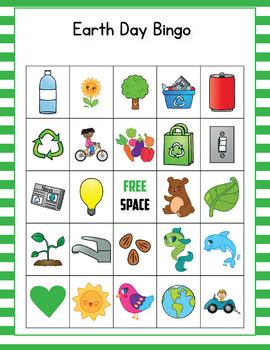 Earth Day Bingo Game - Earth Day Activities for Kindergarten