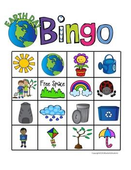 Earth Day Bingo Games