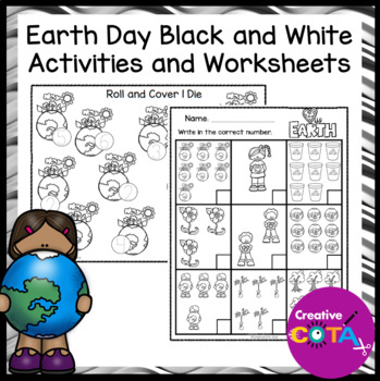 Earth Day Black and White Worksheets and Activities