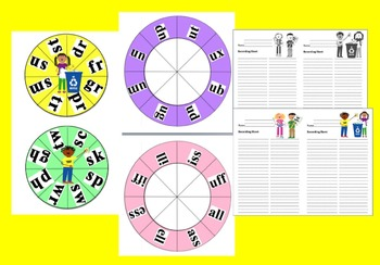 Earth Day Activities: Blending Build A Word Wheels
