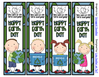 Earth Day Bookmarks - 4 Designs