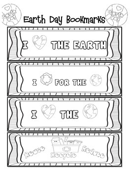 Earth Day Bookmarks Freebie