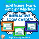 Earth Day Boom Cards Bundle, Grammar in Context, Verbs, Nouns, Adjectives