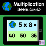 Earth Day Boom Cards for Distance Learning | Multiplication