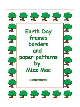 Earth Day Borders Frames and Papers