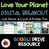 Earth Day Breakout - Conservation Digital Escape Room - Recycling - Environment