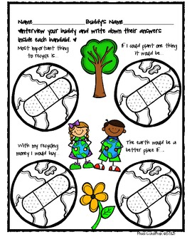 Earth Day Buddy Interview Activity