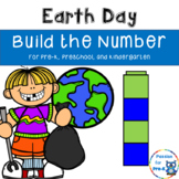 Earth Day Build the Number for Pre-K, Preschool, and Kindergarten