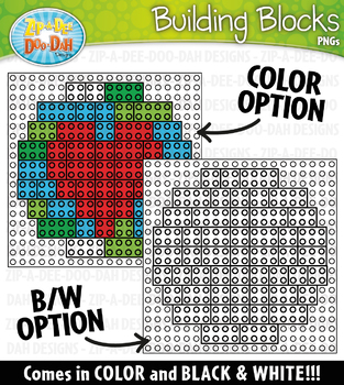 Earth Day Building Blocks Clipart {Zip-A-Dee-Doo-Dah Designs}