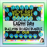 Earth Day Bulletin Board World Writing Flip Craft and Lettering K-3