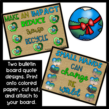 Earth Day Bulletin Board Set and Writing Activities {Print-Cut-Go!}