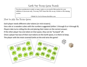 Earth Day Bump Math Games: Addition and Multiplication Gam