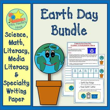 Earth Day Activities Bundle - Math Games, Writing Activiti